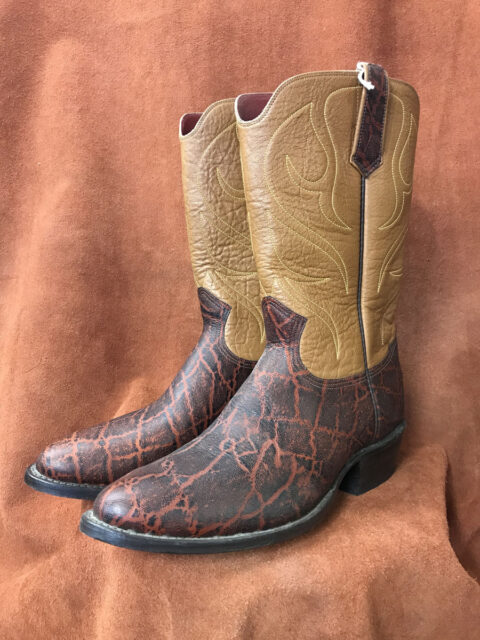 brown elephant print cowboy boots