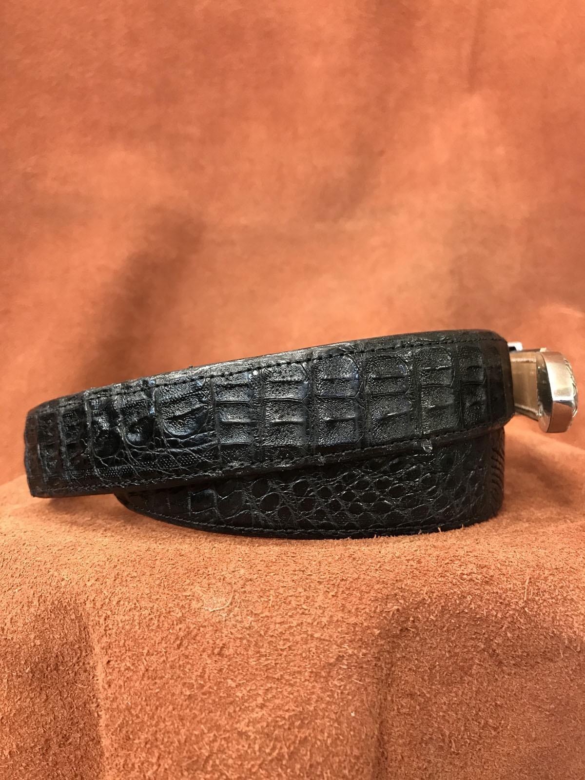 black alligator belt