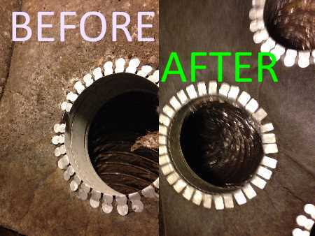 Air Duct Cleaning Before And After Picture Extreme Air Duct Cleaning Lakeway, TX