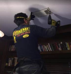 Extreme air duct cleaning tech