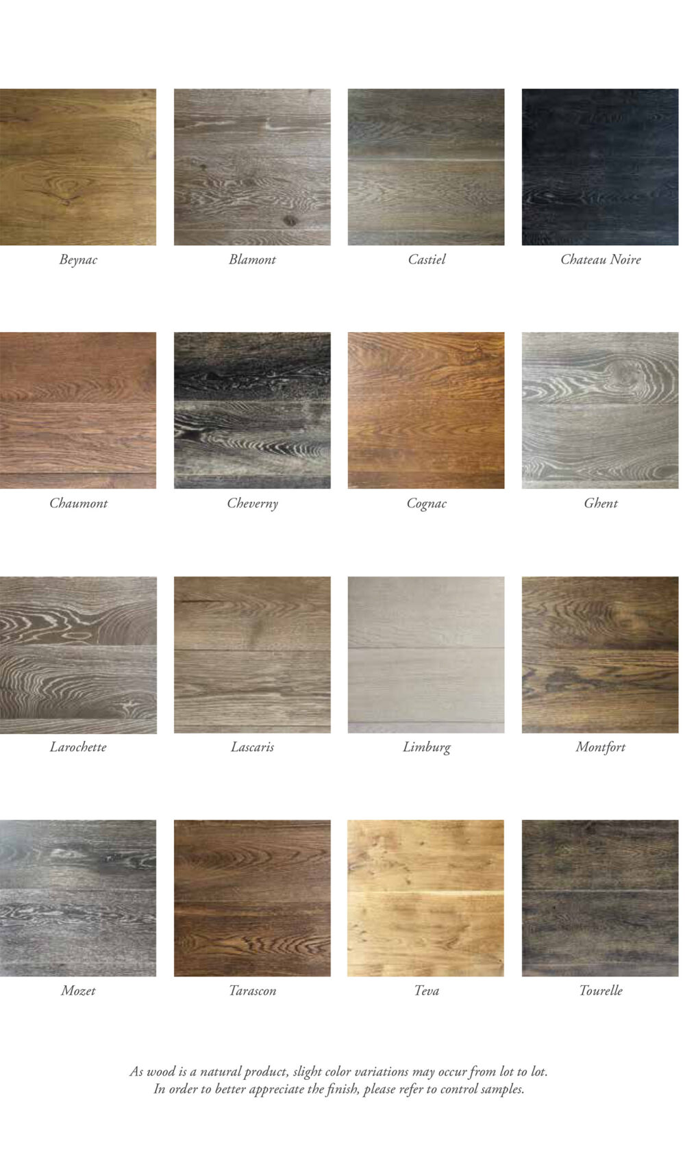 Parquet & Orly Shade Options