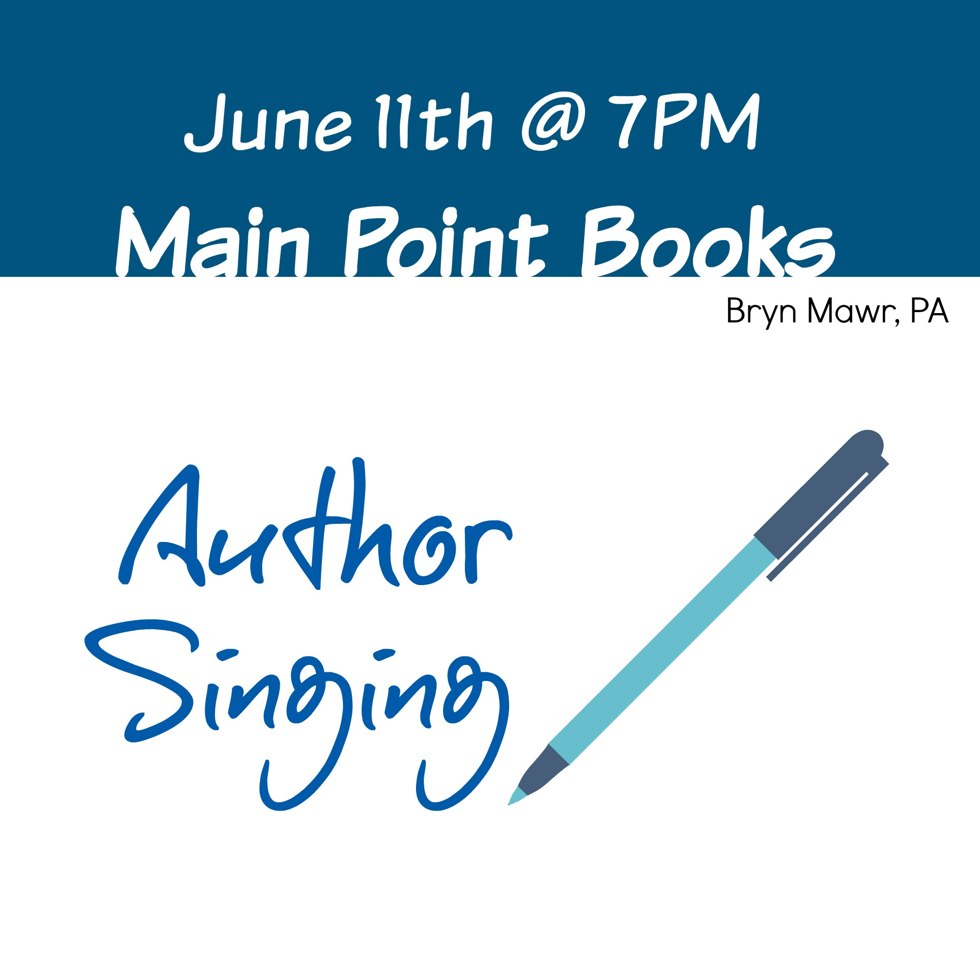Join Us… Author Book Signing in Bryn Mawr