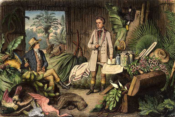 Alexander von Humboldt y Aimé Bonpland en el Río Orinoco