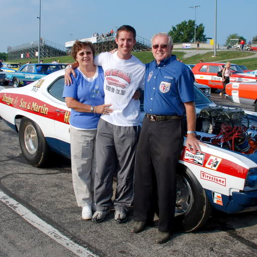 Mike McCandless with parents at the track