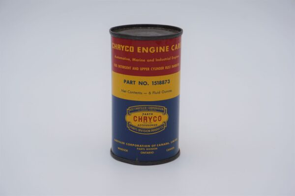 Antique Chryco Fuel Detergent Upper Cylinder Rush Inhibitor, 6 oz can.