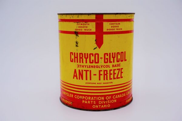 Antique Chryco Glycol Anti Freeze, one imperial gallon can.