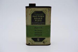 Antique Chrysler Factory Brake Fluid can, 1 pint.