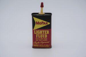 Antique Mopar Lighter Fluid, 4 oz can.
