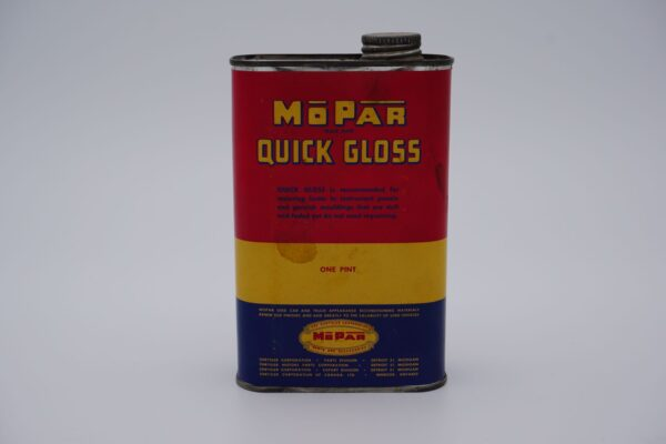 Antique Mopar Quick Gloss, one pint can.