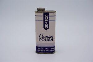 Antique Chryco Chromium Polish can, 10 oz.