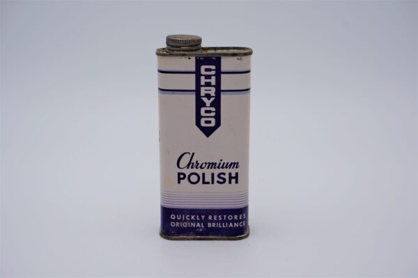 Antique Chryco Chromium Polish can, 10 oz.