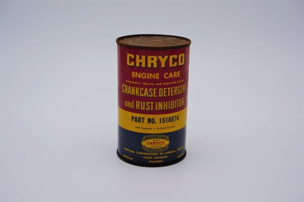 Antique Chryco Crankcase Detergent & Rush Inhibitor can, 16 oz.