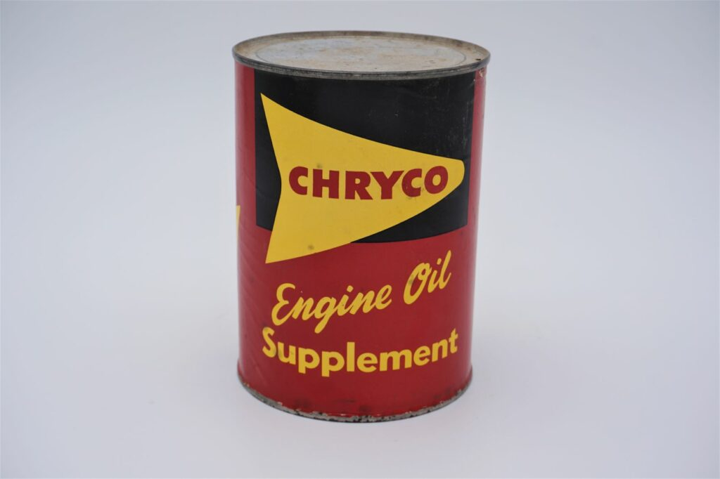 Antique Chryco Engine Oil Supplement can, 1 imperial quart.