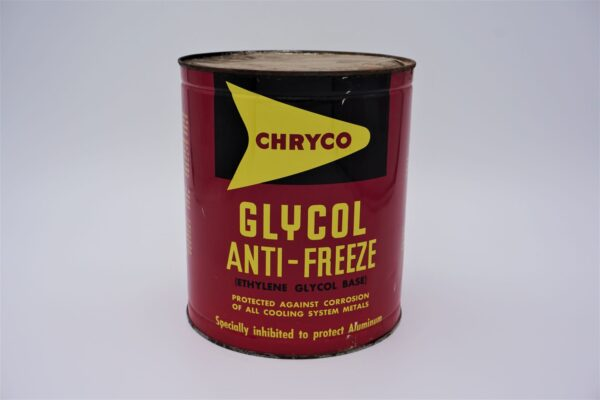 Antique Chryco-Glycol Anti-Freeze can, 1 imperial gallon.