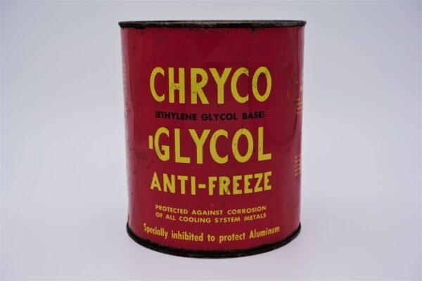 Antique Chryco-Glycol Anti-Freeze, 1 Imperial Gallon can.