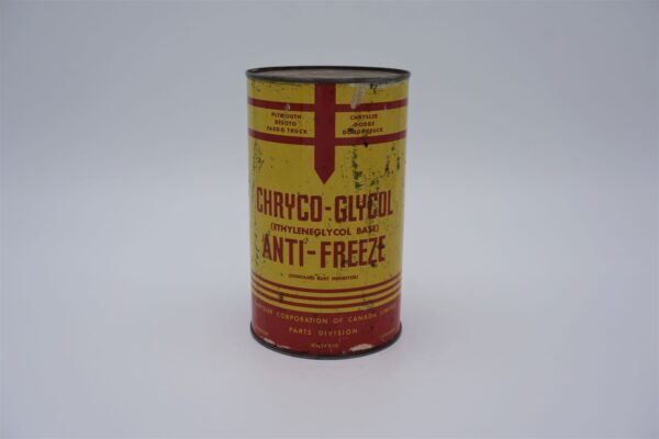 Antique Chryco-Glycol Anti-Freeze can, 1 imperial quart.