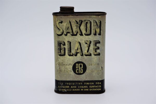 Antique Chrysler Saxon Glaze can, 1 Pint.