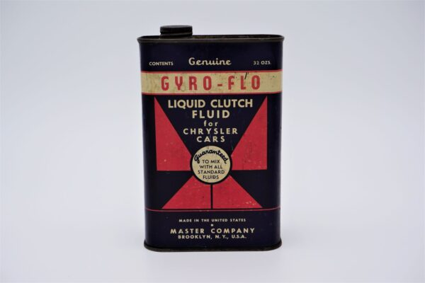 Antique Gyro-Flo Liquid Clutch Fluid, 32 oz can.