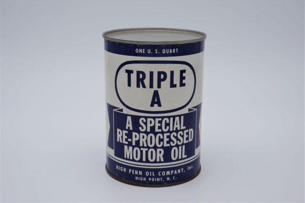 Antique High Penn Motor Oil, 1 quart can.