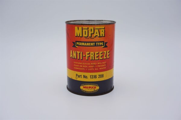 Antique Mopar Anti-Freeze, one quart can.