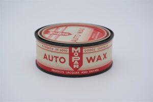 Antique Mopar Auto Wax, 8 oz can.