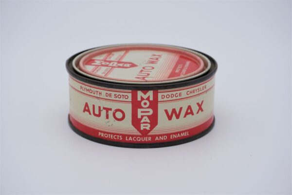 Antique Mopar Auto Wax, 8 oz can.