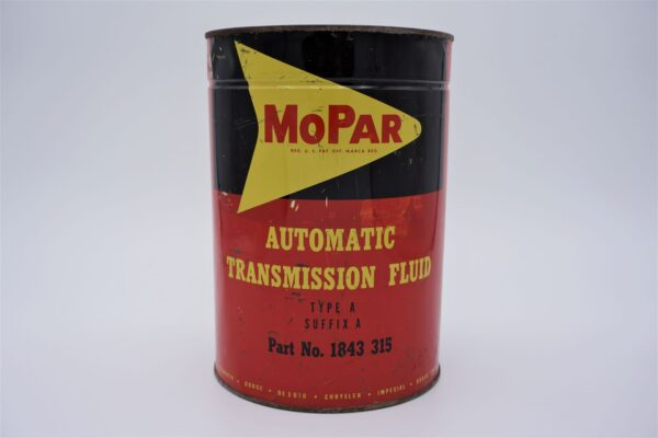 Antique Mopar Automatic Transmission Fluid, 5 quart can.