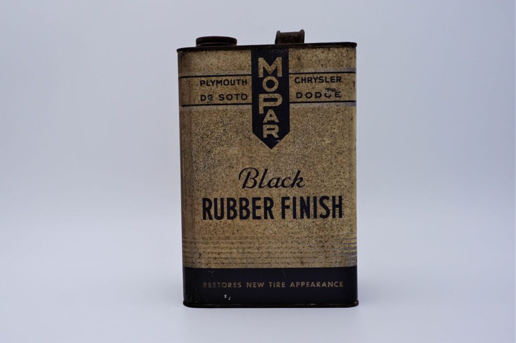 Antique Mopar Black Rubber Finish can, 128 oz.