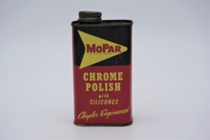 Antique Mopar Chrome Polish with Silicones, 8 oz can.