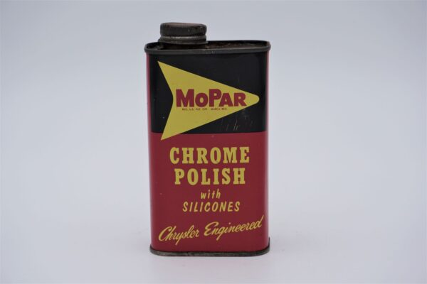Antique Mopar Chrome Polish with Silicones, 8 oz can.