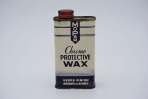 Antique Mopar Chrome Protective Wax, 8 oz can.