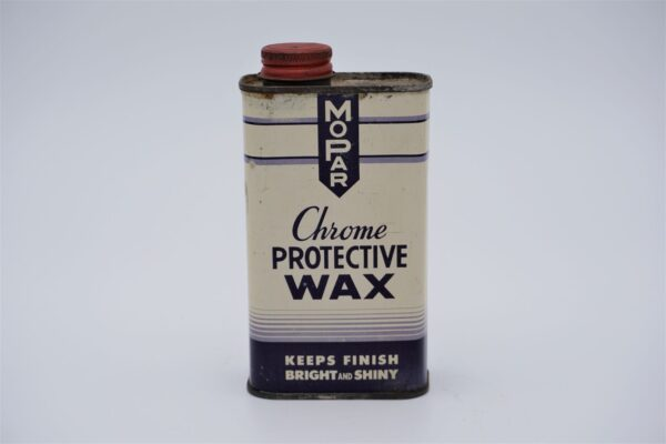 Antique Mopar Chrome Protective Wax, 8 oz can.