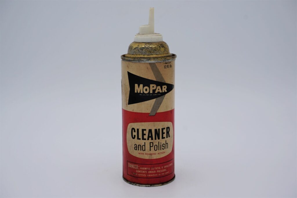 Antique Mopar Cleaner & Polish, 12 oz aerosol can.