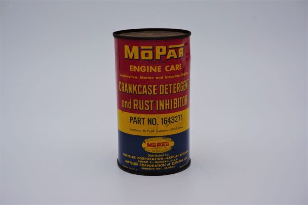Antique Mopar Crankcase Detergent & Rush Inhibitor, 16 oz can.