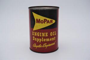 Antique Mopar Engine Oil Supplement, 8 oz can.
