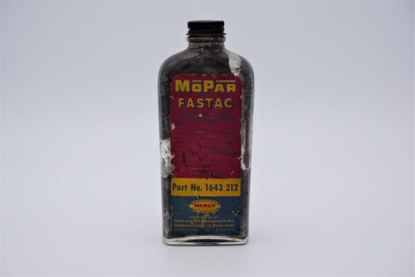 Antique Mopar Fastac, 8 oz glass bottle.