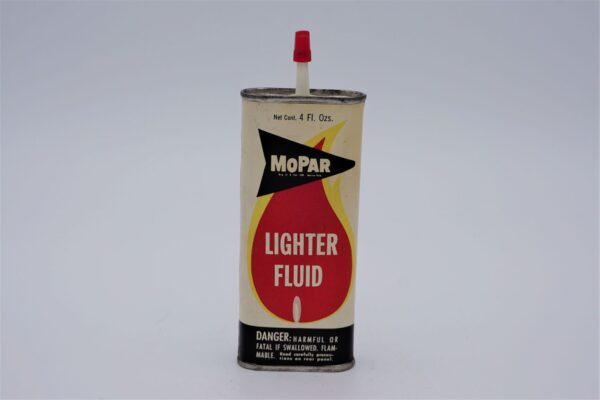 Antique Mopar Lighter Fluid, 4 oz can.