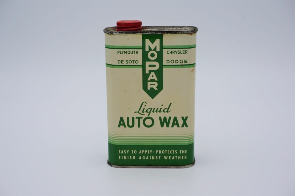 Antique Mopar Liquid Auto Wax, 16 oz can.