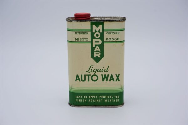 Antique Mopar Liquid Auto Wax, 16 oz can.