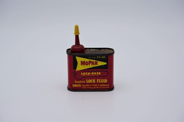 Antique Mopar Lock-Ease Graphited Lock Fluid, 4 oz can.