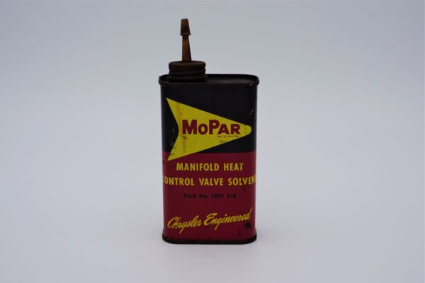 Antique Mopar Manifold Heat Control Valve Solvent can, 8 oz.