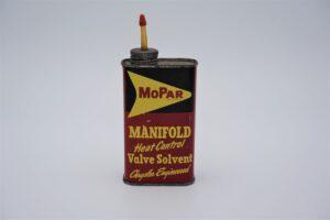 Antique Mopar Manifold Heat Control Valve Solvent, 8 oz can.