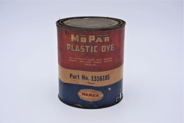 Antique Mopar Plastic Dye, 1 quart can.