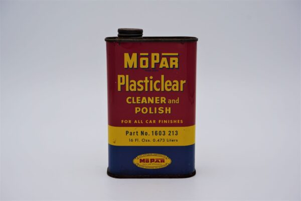 Antique Mopar Plasticlear Cleaner & Polish, 16 oz can.