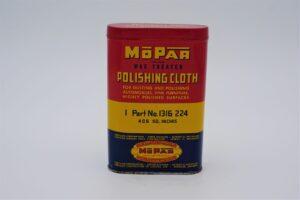 Antique Mopar Polishing Cloth can.