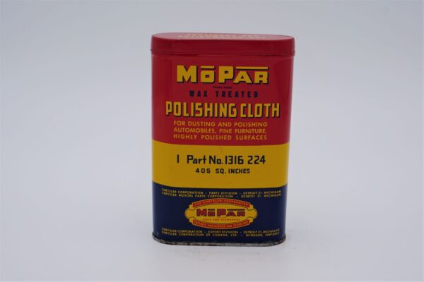 Antique Mopar Polishing Cloth can.