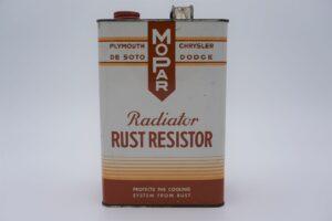Antique Mopar Radiator Rust Resistor, 128 oz can.