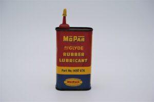 Antique Mopar Ru-Glyde Rubber Lubricant, 8 oz can.