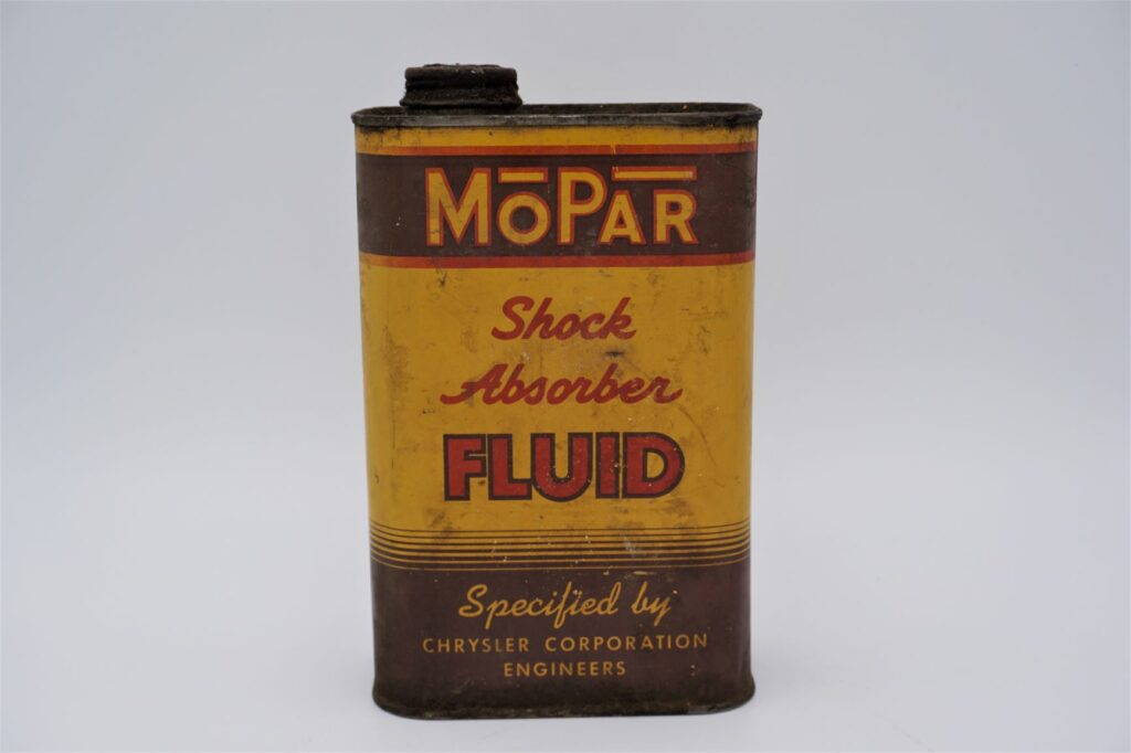Antique Mopar Shock Absorber Fluid can, 32 oz.
