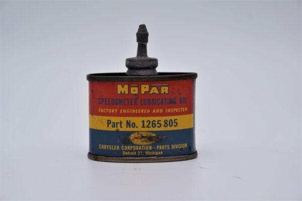 Antique Mopar Dry Graphite Lubricant can and applicator.